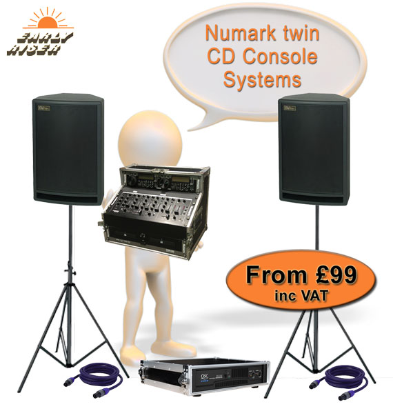 Twin CD Console Hire Packages